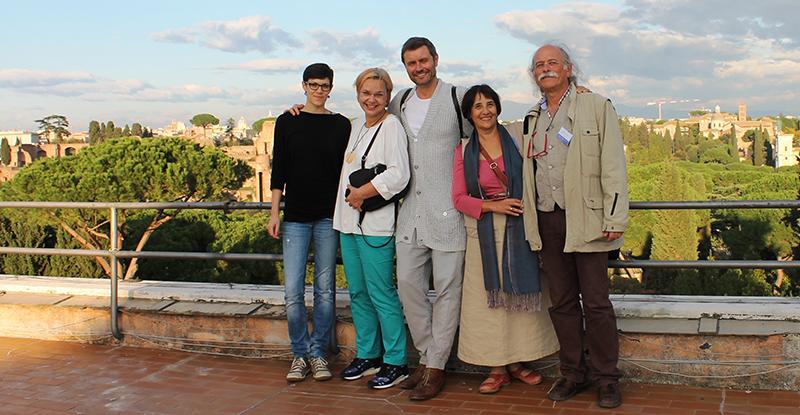 Gruppenfoto in L'Aquila