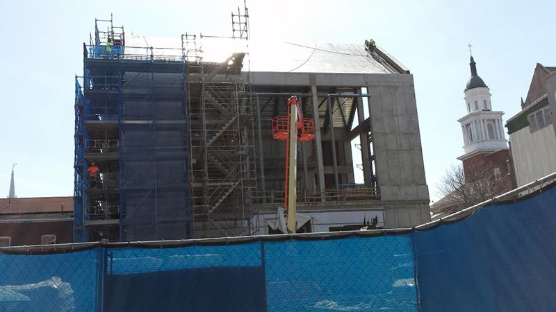 Der Bau des neuen Orchestersaals und Überäume in Yale