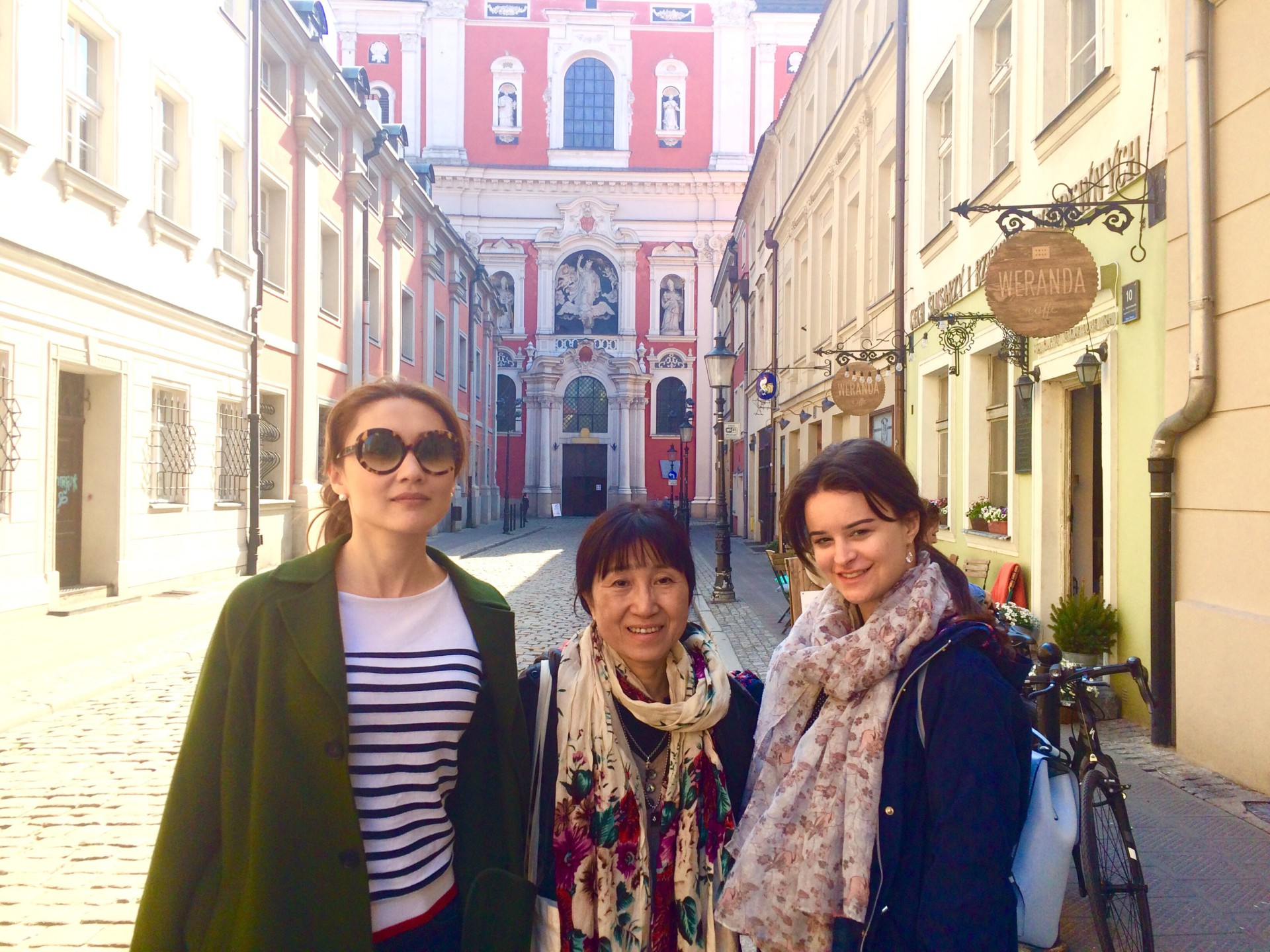 Composer students Tatyana, Atsuko and Hristina