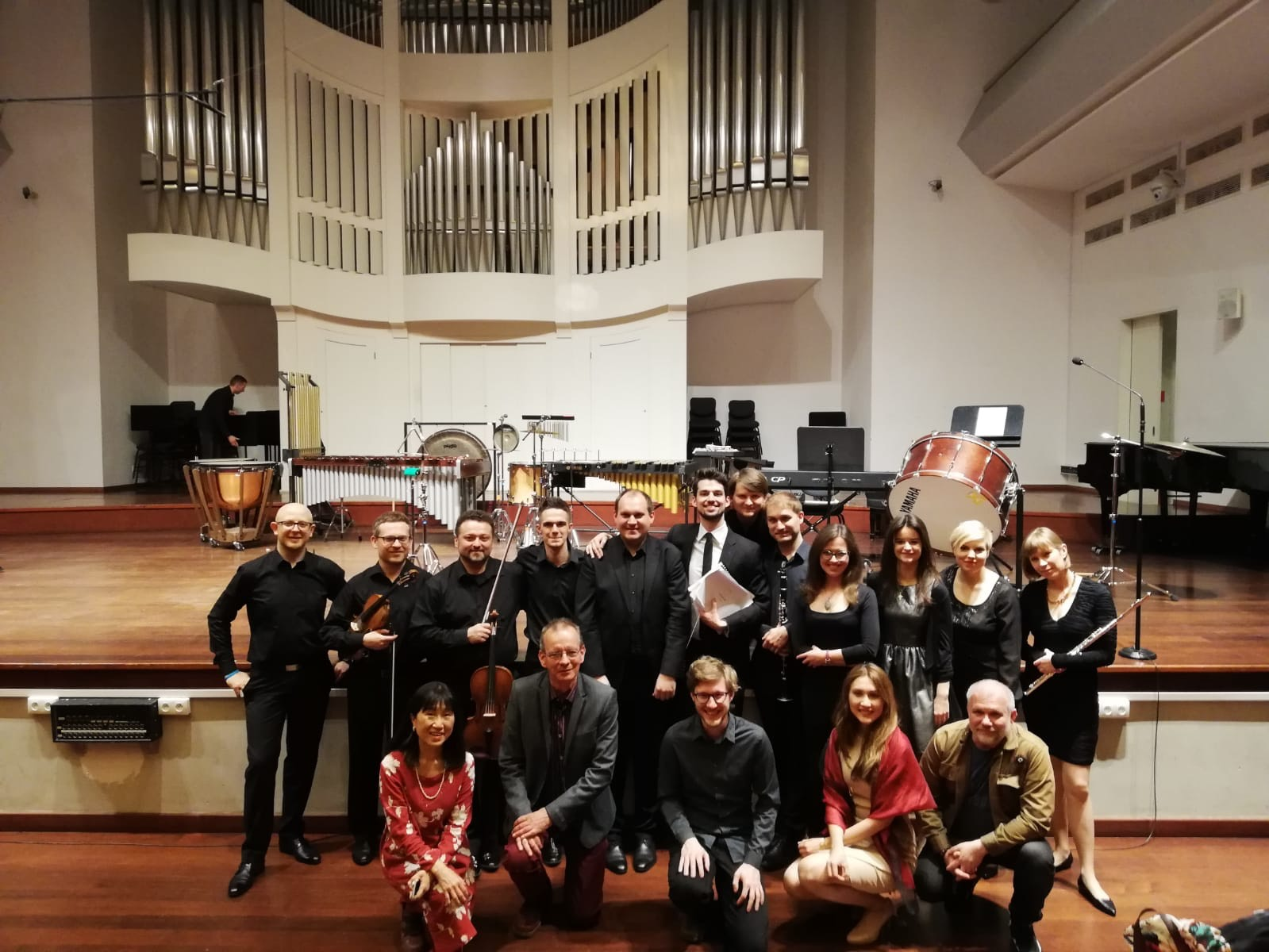 Composers with conductor Yaroslav Shemet and Sepia Ensemble