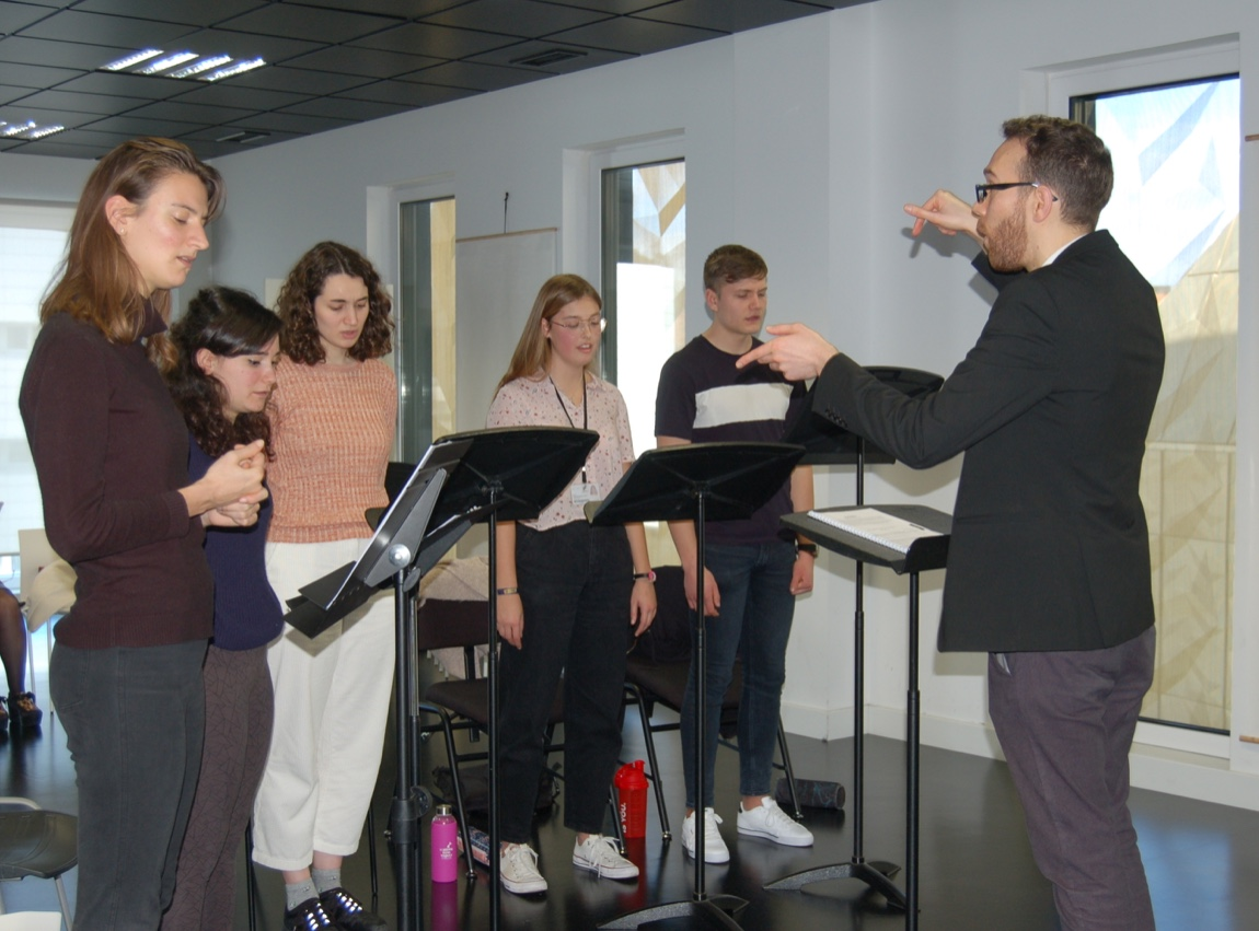 workshop with Daniel Serrano and his students